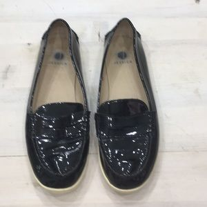 Jessica patent leather loafers sz 7